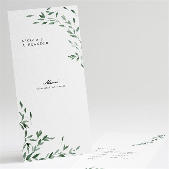 Menükarte Hochzeit Unter Dem Olivenbaum Auf Meinekartende